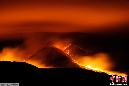 歐洲最高活火山 埃特納 年內第七次噴發