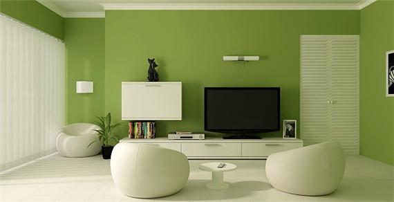 绿色墙纸装修效果图