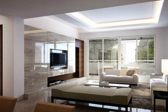 設計案例  臥室客廳隔斷裝修效果圖7 簡約的隔斷設計,配以拱門的效果
