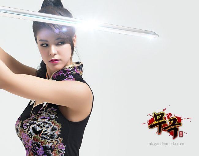 日女的逼的照片_日本女星代言韩国网游 旗袍宣传照冷艳逼人