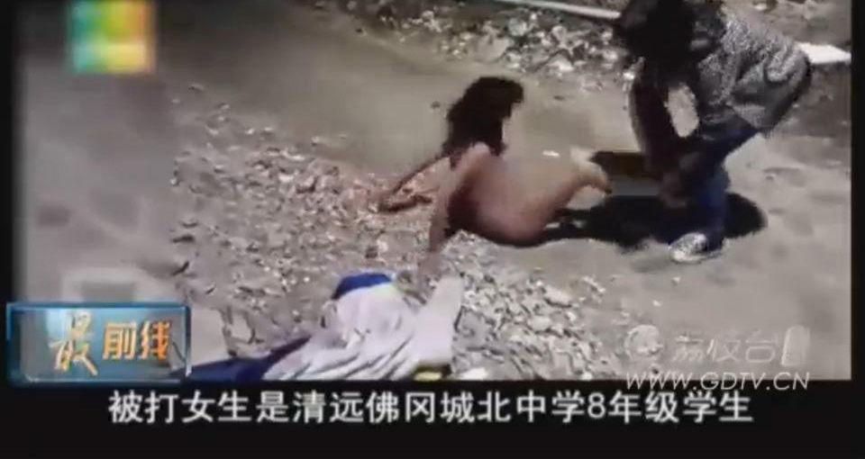女虐女视频_初中女生遭暴力女虐打