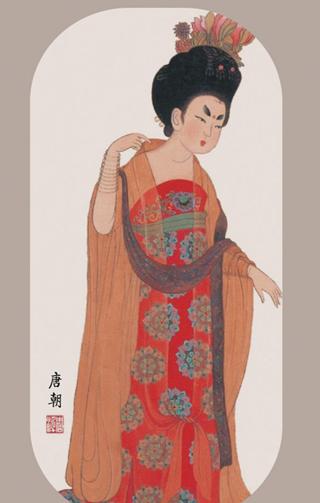"""古代激情_盘点唐朝女性的艺术激情成就的""""露胸""""装-香港商报"""