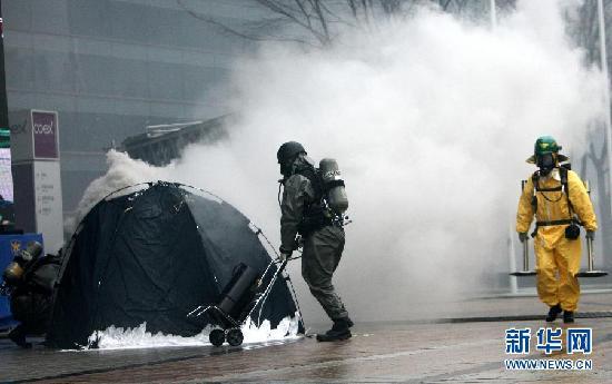首尔核峰会召开在即 韩国警方严阵以待