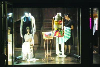 服装店橱窗cad设计图展示
